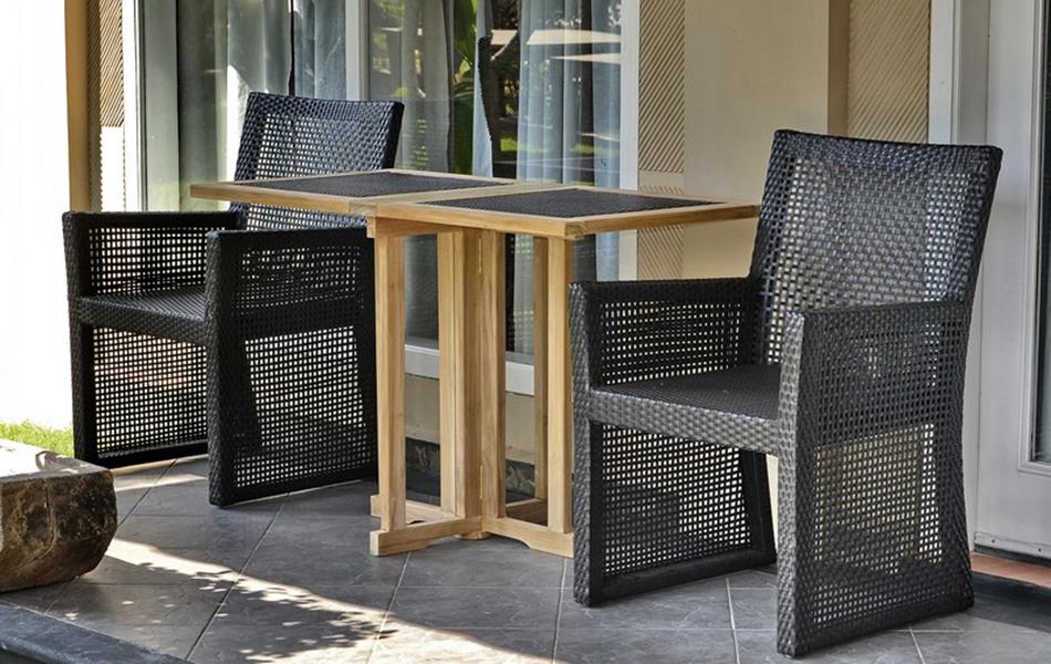 Balcony Table Rattan & Armchair Vigo